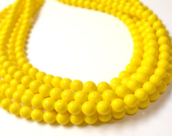 Michelle - Yellow Glass Bridesmaid Statement Necklace