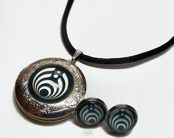 Bass Lights BassNectar Locket and Earrings Set - Option to buy each piece separately