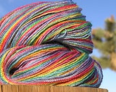 Lace Weight Yarn - BFL Wool and Silk - Rainbow