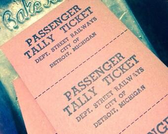 10pcs DETROIT STREETCAR TICKETS Vintage Passenger Fare