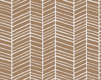 Herringbone in Maple  True Colors by Joel dewberry /   1 yard Cotton Quilt/Apparel Fabric
