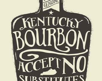 Accept No Substitutes - Screenprinted Art Print