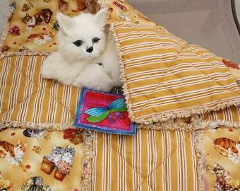 Couch Cover, Cat Blanket, Catnip Blanket, Blanket With Toy, Fabric Cat Bed, Designer Cat Bed, Cat Bed, Luxury Cat Blanket, Cat Mat, Pet Mat