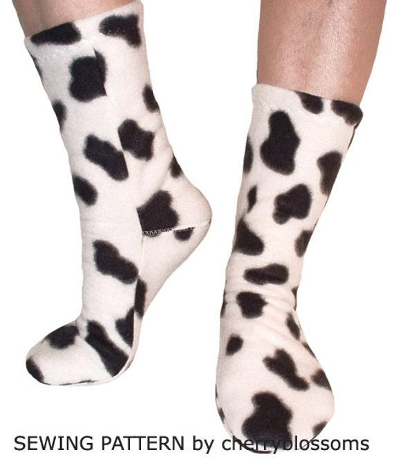 Striking image pertaining to free printable fleece sock pattern