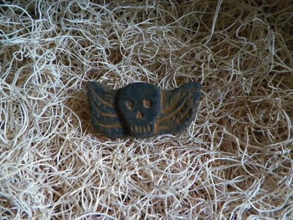 No 2 Skull Angel Prim Halloween Silicone Soap Wax Mold Primitive Spooky Holiday Tart DIY Craft Molds