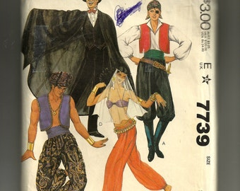 McCall's Misses' and Men's Costumes Pattern 7739