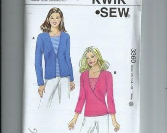 Kwik Sew Misses'  Tops  Pattern 3360