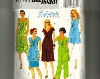 Butterick Misses' Maternity Top, Dress, Shorts, and Pants Pattern 5196