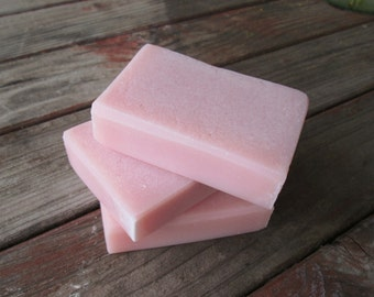 Organic Rose Clay Soap FACE TIME-Handmade Soap-Coconut soap-Palm Free Soap