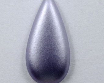 9mm x 18mm Frosted Lavender Teardrop (4 Pcs) #542