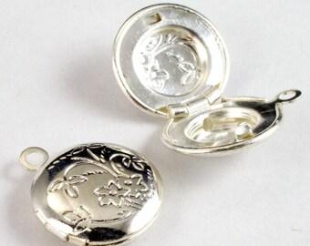 12mm Silver Round Locket #2733