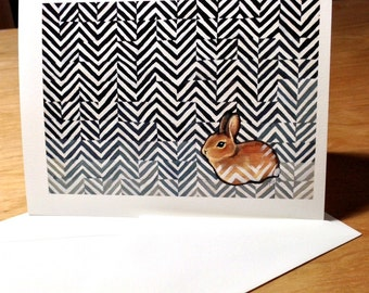 3 Cards with envelopes - Little Bunny Rabbit - prints of original drawing