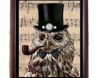 Steampunk Owl Man Cigarette Case Wallet Business Card Case Sweetheartsinner Owl Bird Predator Spirit Animal