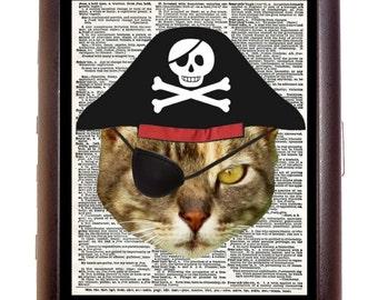Pirate Kitty Cat Newsprint Cigarette Case Wallet Business Card Case Sweetheartsinner Kawaii