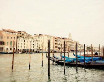 italy photography, venice photography, gondolas, blue decor, grand canal, architecture, europe photograph, Beautiful Venice V04