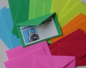 CHOOSE your color - 75 mini envelopes . tiny for business cards . so cute