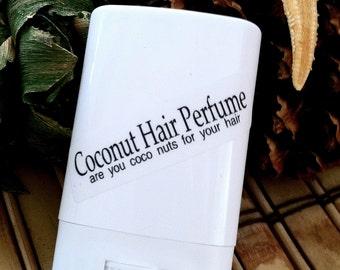 Coconut Hair Perfume - Coconut, Solid Hair Perfume,Beach Hair,Beach Wedding Favors,Bath and beauty,Beach House Living