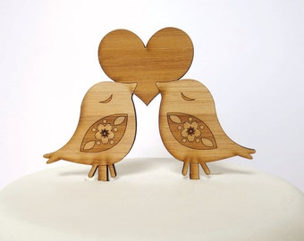 Love Birds Cake Topper. Bird Cake Topper. Wedding Cake Topper. Cake Topper. Rustic Cake Topper. Wood Cake Topper. Wedding Cake Ornament.