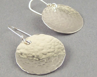 Sterling Silver Simple Circle Reflections Earrings