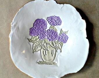 Hydrangea Ceramic Trinket Dish