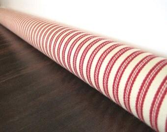 RED stripe door draft stopper, draft snake, draught excluder, draft stopper