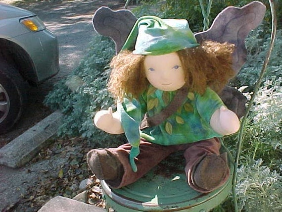 "Elf or Fairy Boy,  Custom 16"" Waldorf Doll"
