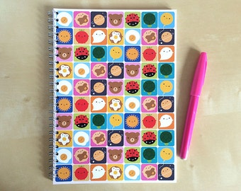 Look Around Kawaii Notebook - Spiral Bound