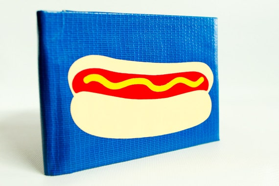 Hot Dog Duct Tape Wallet - by jDUCT