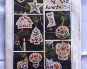 Vintage vogue patterns st nick knacks ornaments and stocking pattern Swiss miss  transfers 1754