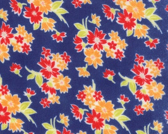 SALE - Miss Kate FLANNEL - Spring in Navy Blue: sku 55091-17F FLANNELquilting fabric by Bonnie and Camille for Moda Fabrics - 1 yard
