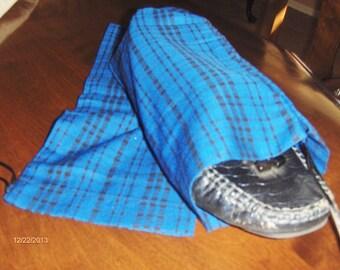 Plaid shoe bags