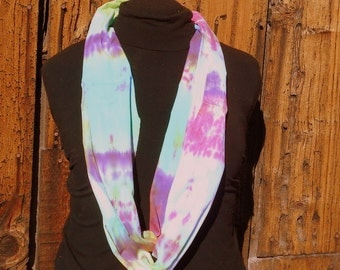 Infinity Scarf Hand Dyed Tie Dye Cotton Mobius  05