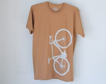 OOPS Small Men's Road Bike Tee, Caramel Ice- 0162