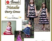 INSTANT DOWNLOAD: Natalie Party Dress - diy Tutorial pdf eBook Pattern - Sizes 18M to 14