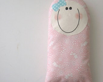 SOFTIE doll pillow baby - toddler - pillow doll - light pink bunny fabric - next day ship