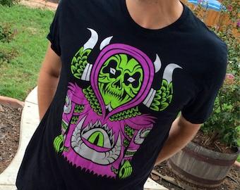 Black Sauron Spectre T-Shirt by Martin Ontiveros