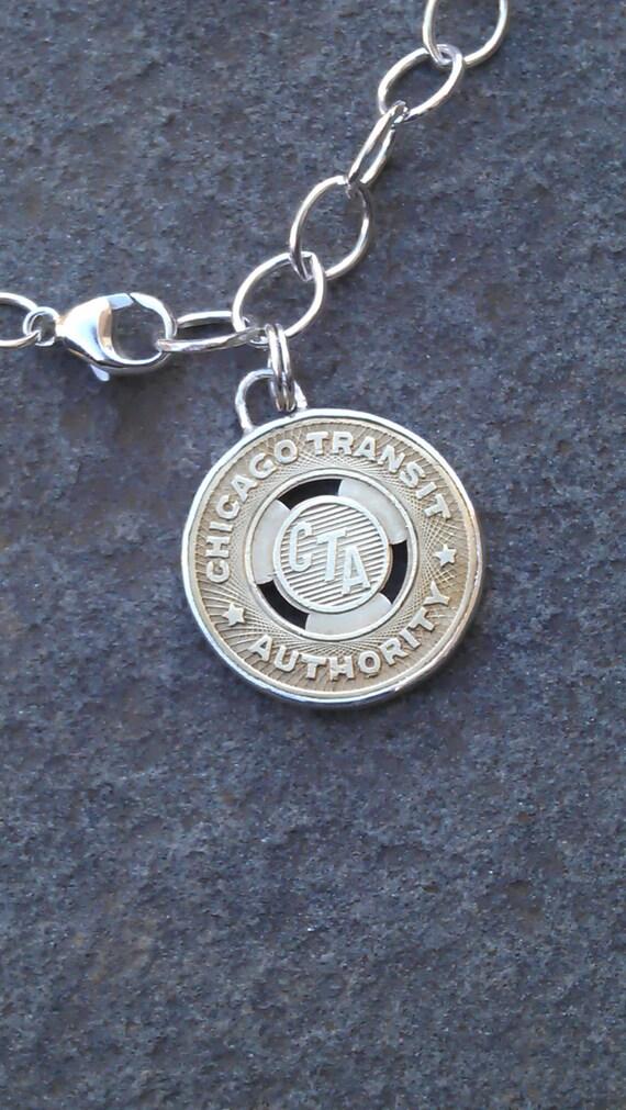 Chicago CTA Token Charm Bracelet