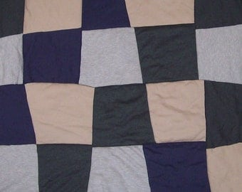 Upcycled, Baby, Quilt for Boy, Neutral Colors