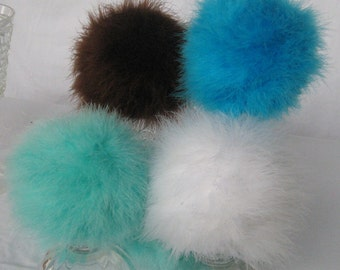 "6"" Marabou Feather Pomander kissing ball, bouquet, wishie, dandelion, winter, frozen, snowball, aisle, nursery, baby shower"