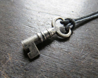 Tiny Sterling Key Pendant