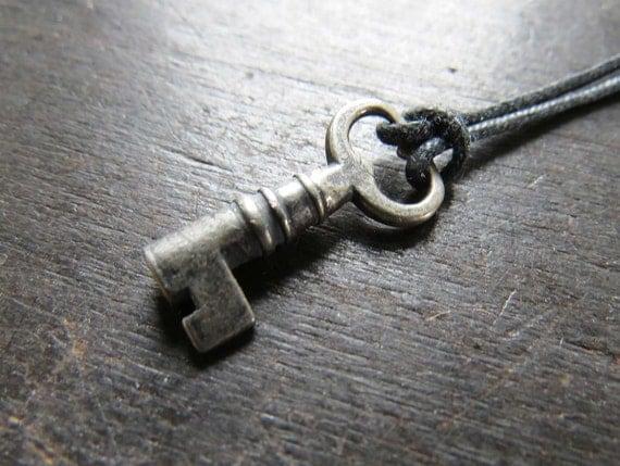 Tiny Sterling Key Pendant