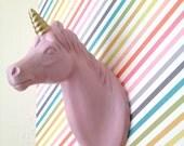 Mounted Unicorn Head Wall hanging Jewelry holder