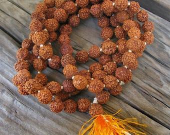 Rudraksha Seed Beads from Tibet -41-1/2 in. Strand