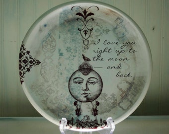 Custom Dinner Plate - Personalized Plate - Platter - Heirloom Wedding Gift - NLB