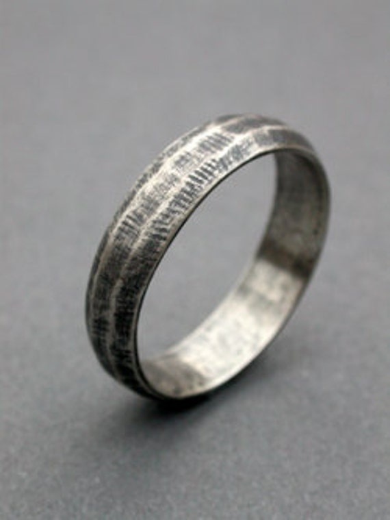 Mens Wedding Band Simple Modern Eclectic Wedding Band