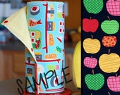 Tree Saver Towels - APPLE ORCHARD - Reusable, Eco-Friendly, Snapping Paper Towel Set - Cotton and Terry Cloth