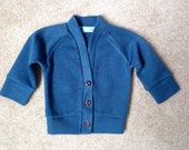 Teal baby cardigan