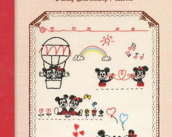 Disney Characters Embroidery n35673 -  Japanese Craft Book