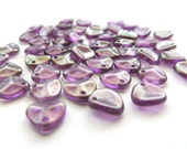 Shimmering Royal Purple Baby Glass Rose Petals, 8mm x 7mm - 50 pieces