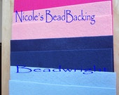 Nicole's BeadBacking 12x9 NBB 4 colors 8 pack  Bead Embroidery Soutache Beading